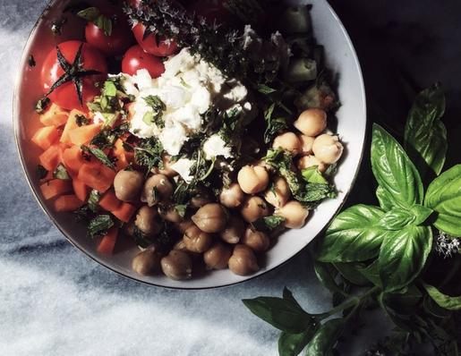 pranzo gourmet: insalata di ceci e feta
