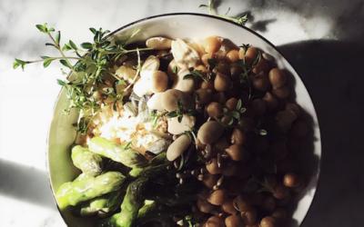 buddha bowl con asparagi e ceci