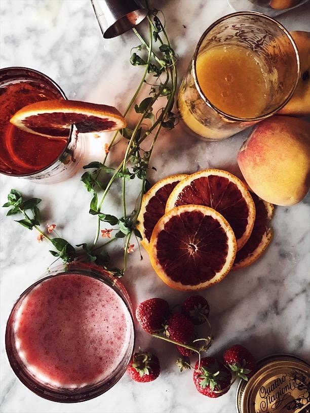 IL Rossini cocktail con fragole e prosecco